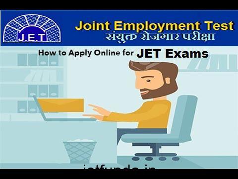 JET Exam online application form