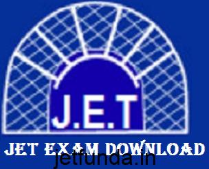 JET Exam Admit card download