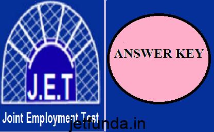 JET Exam Answer Key 2015