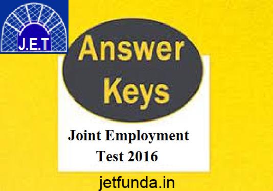 JET Exam answer key
