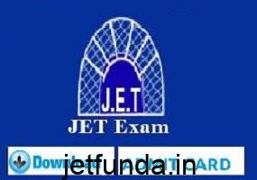 jet exam admit card, jet exam 2018, jet exam