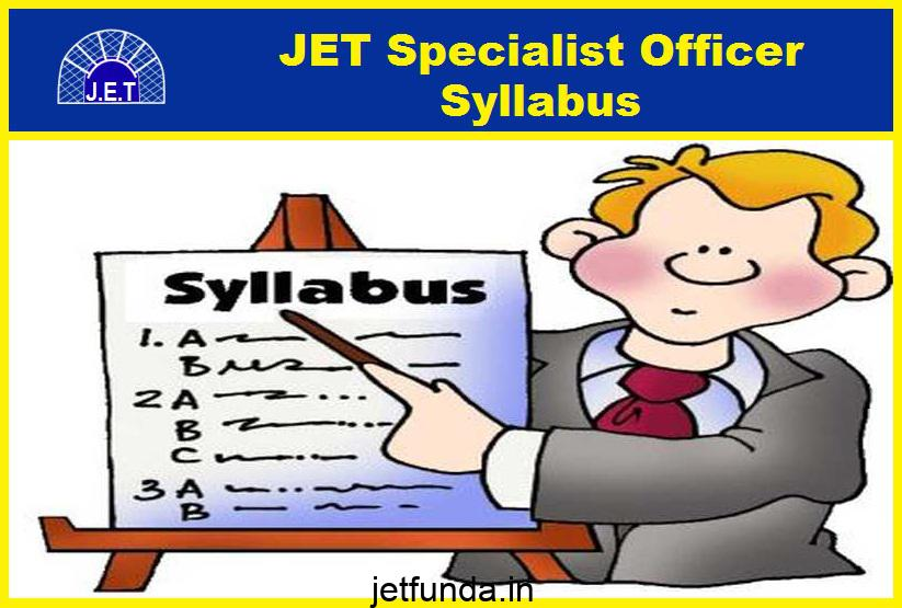 jet specialist officer syllabus