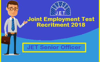 jet exam, jet exam notification, jet 2019, jet 2019 notification, JET Senior Officer