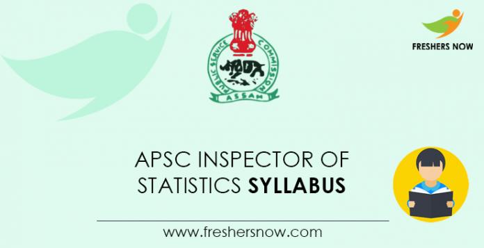 APSC Inspector of Statistics Syllabus