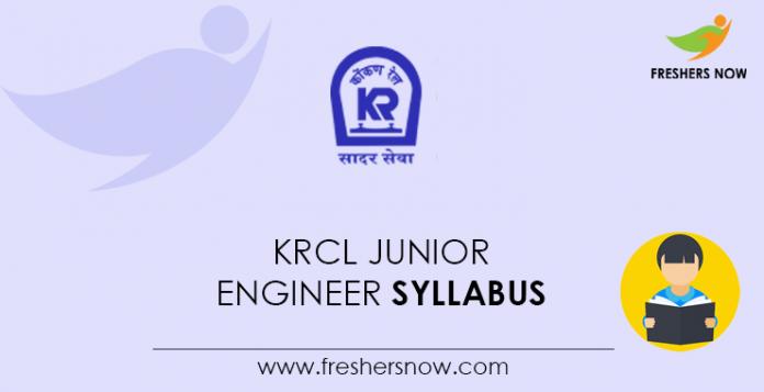 KRCL Junior Engineer Syllabus