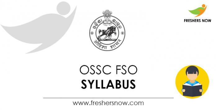 OSSC FSO Syllabus
