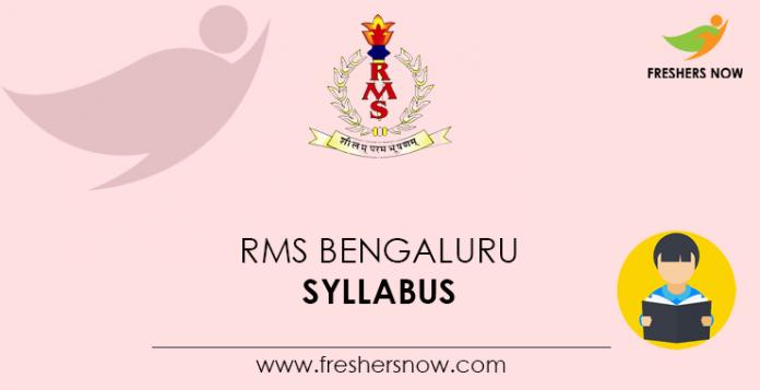 RMS Bengaluru Syllabus
