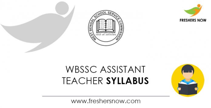 WBSSC Assistant Teacher Syllabus