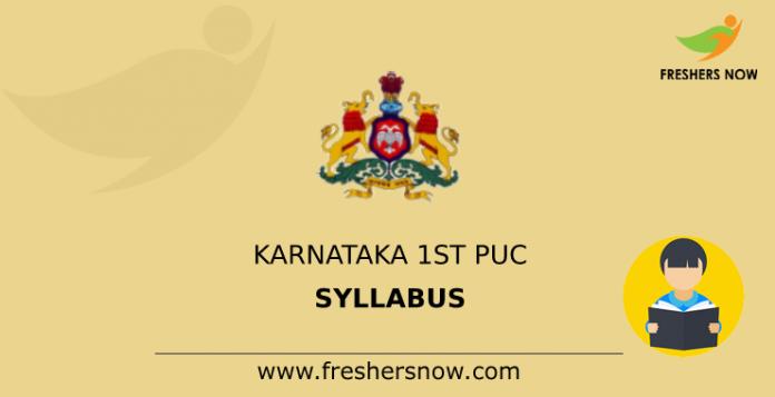 Karnataka 1st PUC Syllabus