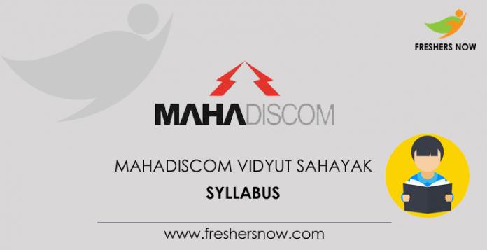 MAHADISCOM Vidyut Sahayak Syllabus