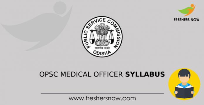 OPSC Medical Officer Syllabus