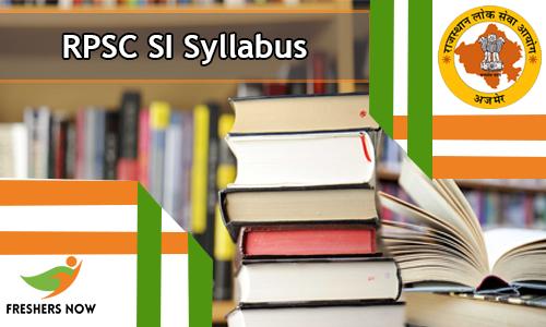RPSC SI Syllabus