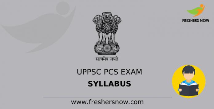 UPPSC PCS Exam Syllabus