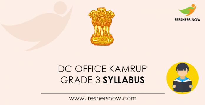 DC-Office-Kamrup-Grade-3-Syllabus