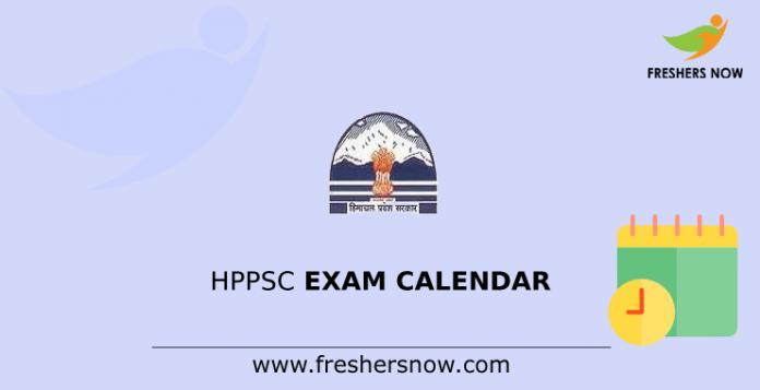 HPPSC Exam Calendar