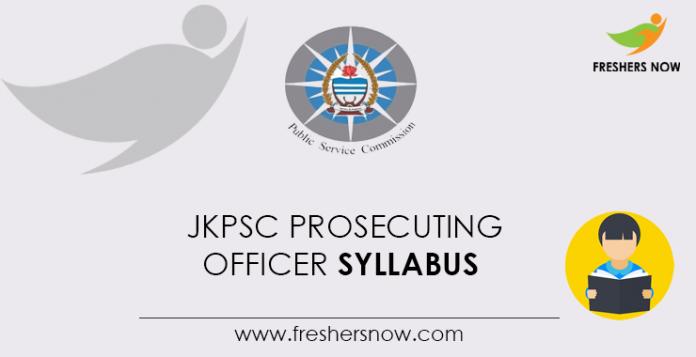 JKPSC Prosecuting Officer Syllabus