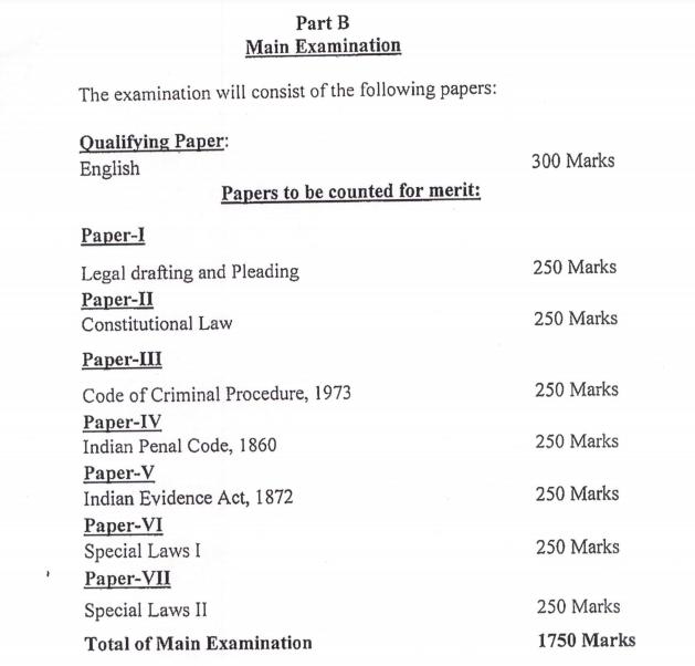 JKPSC Prosecuting Officer Mains Exam Pattern